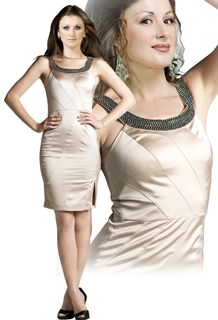 Beaded-Neckline-Office-Dress