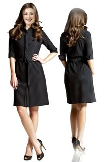 Short-Striped-Formal-Dress